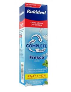 Kukident Complete Fresco - Crema Adesiva per dentiera Tubo da 47 g