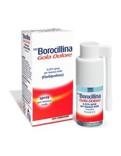 Neo Borocillina Gola Dolore Spray per Mucosa Orale - 0,25% Flurbiprofene Flacone da 15 ml