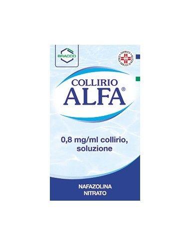 Collirio Alfa 0,8 mg/ml collirio, soluzione NAFAZOLINA NITRATO Flacone da 10 ml