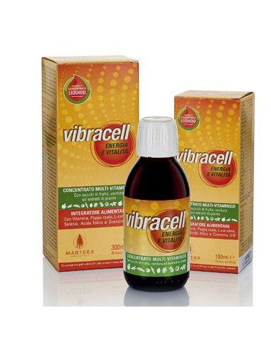 Integratore Vibracell Multivitaminico - Pappa Reale, Carnitina, Selenio e CoQ10 1 flacone da 150 ml (15 dosi da 10 ml)