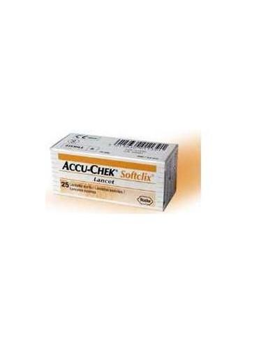 Accu-Chek Softclick Lancette - Determinazione Glicemia 25 lancette sterili per pungidito