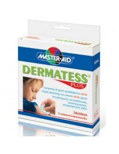 Master Aid Dermatess Plus – Compressa di garza Ipoallergenica Sterile 12 pezzi 5x9 cm