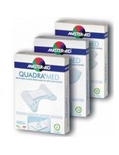 Master Aid Quadra Med - Cerotti in morbido tessuto non tessuto Confezione da 10 pezzi 86x39 mm (formato super)