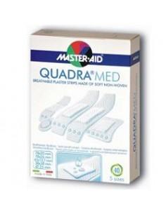 Master Aid Quadra Med - Cerotti in morbido tessuto non tessuto Confezione da 20 pezzi. 2 formati