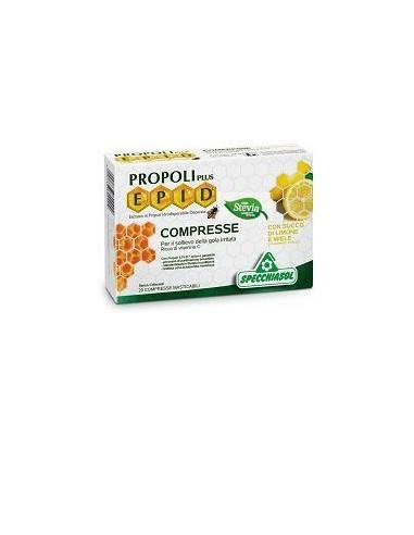 Propoli Plus Epid - Specchiasol Confezione da 20 compresse con succo di miele e limone con estratti titolati
