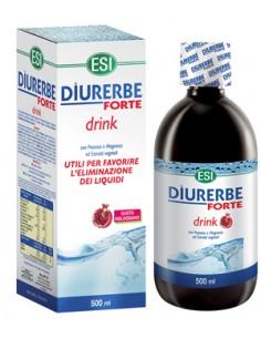 Diurerbe ® Forte - Drink Diuretico Drenante GUSTO MELOGRANO - Flacone da 500 ml