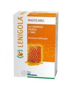 LENIGOLA Compresse Masticabili – Propoli 40 compresse da 1 g cad. pari a 40 g Gusto arancia