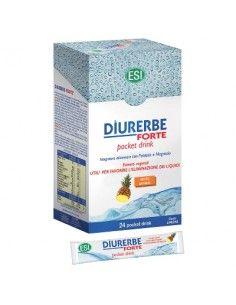 Diurerbe  Forte - Diuretico Drenante GUSTO ANANAS - Astuccio da 24 pocket drinks da 20 ml (480 ml)