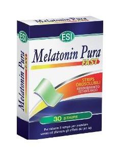 ESI Melatonin Pura Fast - Integratore di Melatonina Assorbimento Istantaneo Confezione da 30 Strips Orosolubili