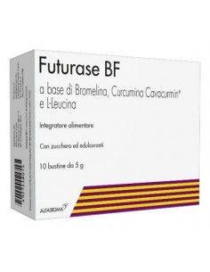 Futurase BF - Integratore Alimentare di Bromelina, Curcumina e L-Leucina 10 bustine da 5 g