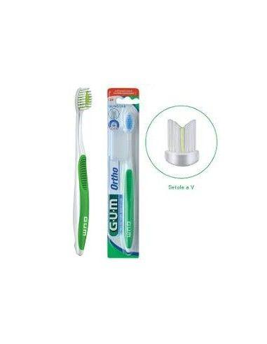 GUM Spazzolino Ortho per Apparecchi Ortodontici 1 spazzolino, formato: Morbido 124