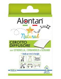 Alontan Natural Cerotto Diffusore Anti Zanzare 24 cerotti diffusori 38 x 38 mm