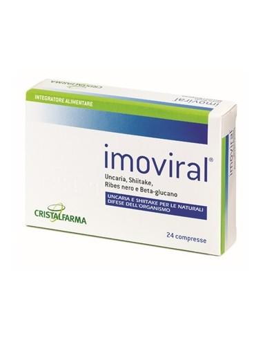 Imoviral - Integratore per le naturali difese dell'organismo Astuccio da 24 compresse da 410 mg