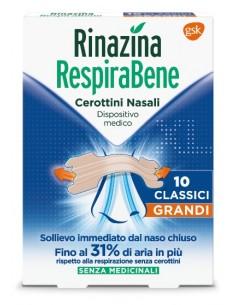 Rinazina RespiraBene Cerottini Nasali 10 cerottini nasali grandi