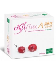 CistiFlux A Plus 36+D - Estratto di Mirtillo rosso + D-Mannosio Confezione da 14 bustine da 5 g
