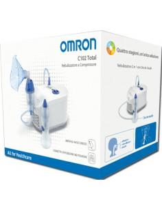 Omron C102 Total - Nebulizzatore a Compressione con Doccia Nasale 1 nebulizzatore con Doccia Nasale