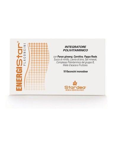 ENERGIStar flaconcini - Integratore alimentare polivitaminico 10 flaconcini monodose da 10 ml con tappo dosatore