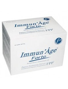 Immun'Age Forte - Integratore alimentare di Papaya Fermentata in Polvere 60 bustine da 4,5 g di Papaya bio-fermentata (FPP)