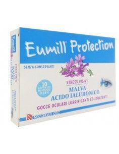 Eumill Protection Gocce Oculari Lubrificanti e Idratanti Confezione da 2 bustine da 5 monodose ciascuna